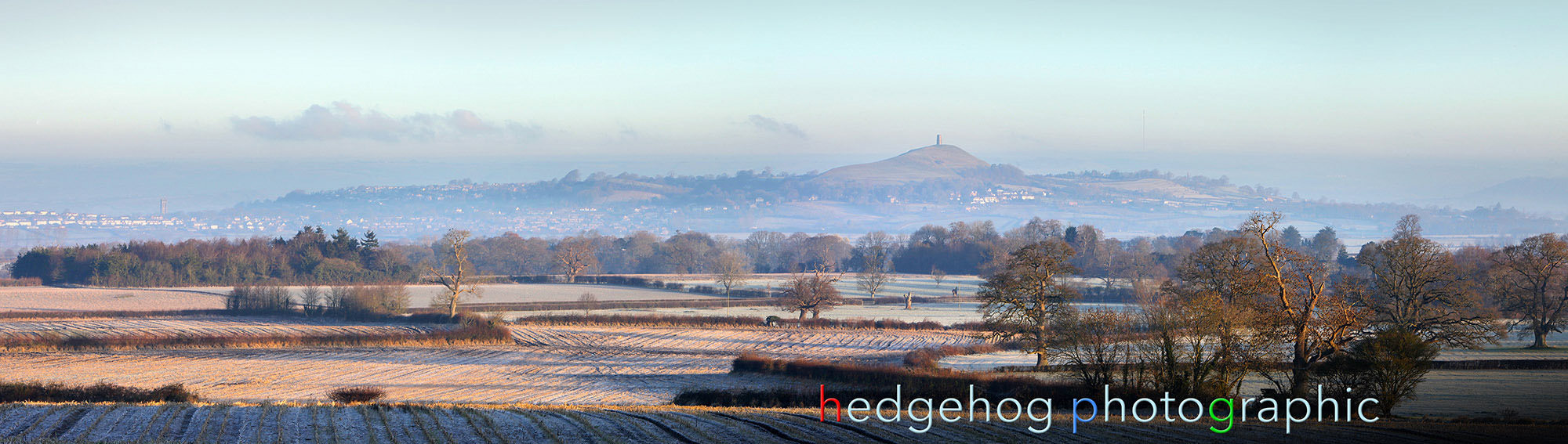 Glastonbury tor in early morning sun
