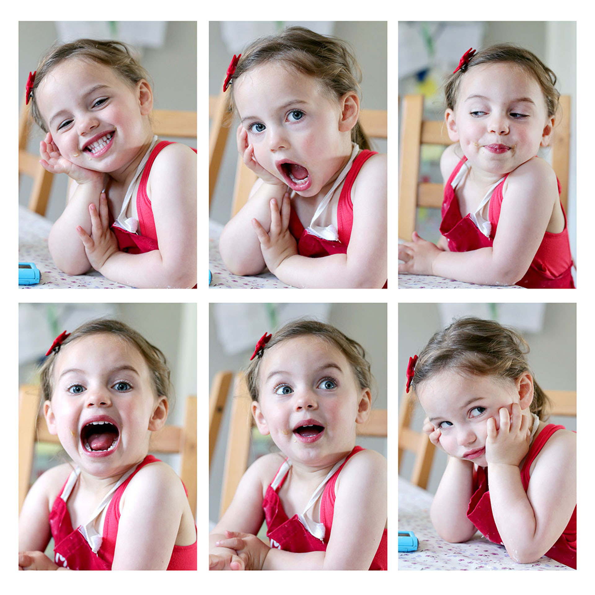 Montage of images of young girl
